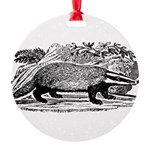 badger.png Round Ornament