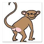monkey-cheeky.png Square Car Magnet 3