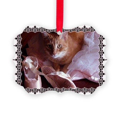 CAT-BALLET_TEE.png Picture Ornament
