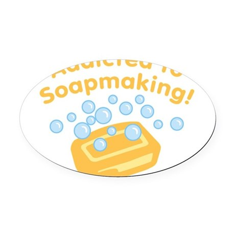 ad-to-soapmaking_tr.png Oval Car Magnet