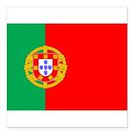 "portuguese_flag.gif Square Car Magnet 3"" x 3"""
