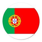 portuguese_flag.gif Round Car Magnet