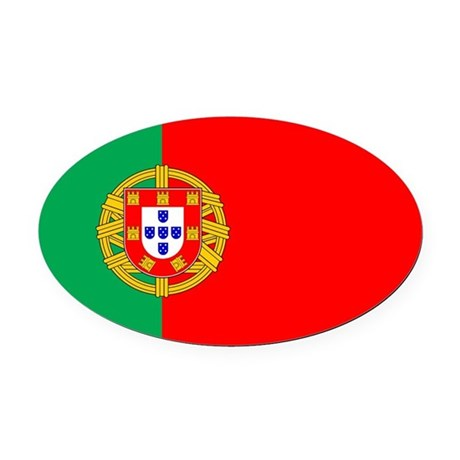 portuguese_flag.gif Oval Car Magnet