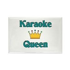 Karaoke Queen Rectangle Magnet