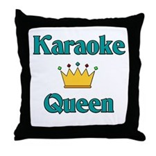 Karaoke Queen Throw Pillow