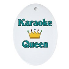 Karaoke Queen Oval Ornament
