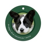 Cardigan Corgi Puppy's 1st Christmas Ornament
