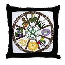 Wheel of the Year Throw Pillow