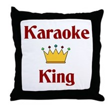 Karaoke King Throw Pillow