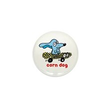 Corn dog on wheels Mini Button (10 pack)