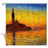 Monet Twilight Venice Shower Curtain
