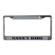Nana's Ride License Plate Frame