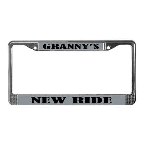 Grannys Ride License Plate Frame