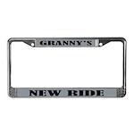 Grannys Ride License Plate Frame