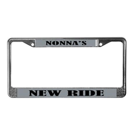 Nonnas Ride License Plate Frame