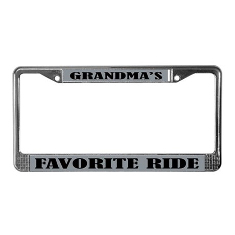 Grandmas Ride License Plate Frame