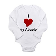 Cute Spanish grandma Long Sleeve Infant Bodysuit