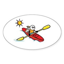 Cute Kayaking Decal