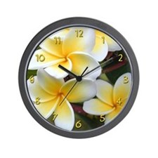 Yellow Plumeria Wall Clock