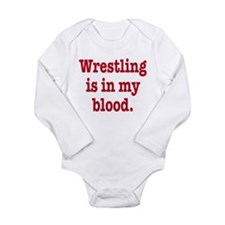 Cute Wrestler Long Sleeve Infant Bodysuit