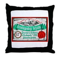 Czech Beer Label 14 Throw Pillow