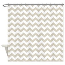 chevron pattern taupe Shower Curtain