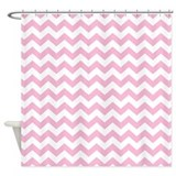 chevron pattern PINK Shower Curtain