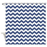 chevron pattern BLUE Shower Curtain