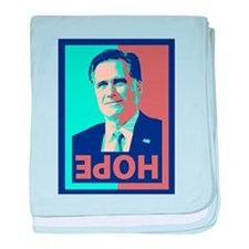 Mitt Romney Opposite of Hope baby blanket