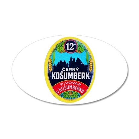 Czech Beer Label 9 38.5 x 24.5 Oval Wall Peel