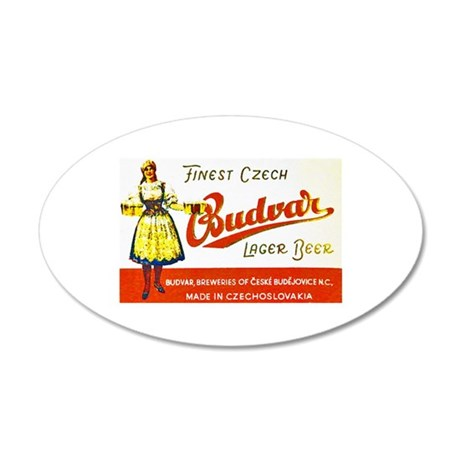 Czech Beer Label 8 22x14 Oval Wall Peel