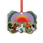 Farm Animals Picture Ornament