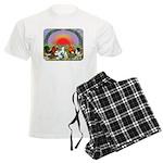 Farm Animals Men's Light Pajamas