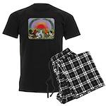 Farm Animals Men's Dark Pajamas