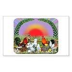 Farm Animals Sticker (Rectangle 10 pk)