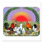 """Farm Animals Square Car Magnet 3"""" x 3"""""""