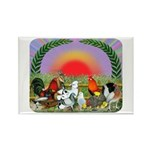 Farm Animals Rectangle Magnet (10 pack)