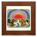 Farm Animals Framed Tile