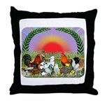 Farm Animals Throw Pillow