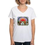 Farm Animals Women's V-Neck T-Shirt
