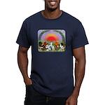 Farm Animals Men's Fitted T-Shirt (dark)