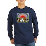 Farm Animals Long Sleeve Dark T-Shirt