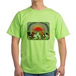 Farm Animals Green T-Shirt