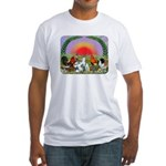 Farm Animals Fitted T-Shirt