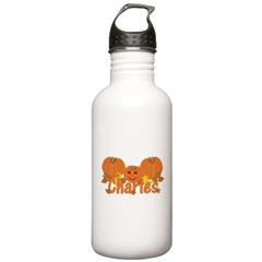 Halloween Pumpkin Charles Stainless Water Bottle 1