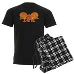 Halloween Pumpkin Chris Men's Dark Pajamas