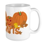 Halloween Pumpkin Chris Large Mug