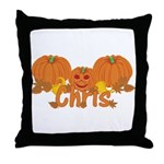 Halloween Pumpkin Chris Throw Pillow