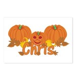 Halloween Pumpkin Chris Postcards (Package of 8)