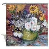 Van Gogh Roses And Sunflowers Shower Curtain